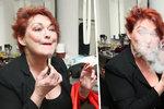 Zawadská zahulila celou maskérnu: Líčí se sama s cigárem v puse!