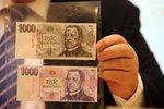 Mezi padělky českých bankovek vede pětistovka a tisícovka. Ale ubylo jich