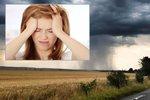 Za bolesti hlavy může proměnlivé počasí. Víme, jak se jí zbavit i bez léků