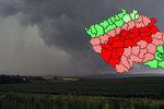 Silné bouřky už jsou na cestě do Česka. Sledujte na radaru, kde právě bouří