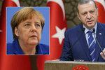 Erdogan tepal Merkelovou: Neměla by se vměšovat do uplatňování práva v Turecku