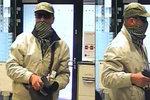 Lupič, který s pistolí přepadl banku na Žižkově, běhá mezi námi: Poznáte ho?