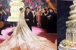 Svatba dcery ruského oligarchy: Šaty za 15 mega, třímetrový dort a okázalá zábava!
