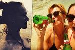 Geislerová se Schneiderovou na dovolené: Pivo z lahve a tajnosti!