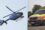 Chlapeček na sebe zvrhnul horkou polévku, do nemocnice ho převážel vrtulník