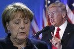 """""""Katastrofální chyba."""" Trump sepsul Merkelovou za její migrační politiku"""