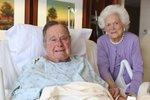 Exprezidenta Bushe konečně pustili z nemocnice. Skolil ho zápal plic