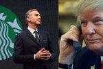 Starbucks kvůli Trumpovi přijme 10 tisíc uprchlíků. Můžou být i u Zemana