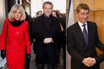 Babišův oblíbenec může řídit Francii. Rebel Macron má o 24 let starší ženu