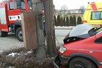 Vážná nehoda na Olomoucku: Zranila se řidička a čtyři děti