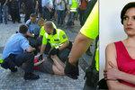 Nalehla policistovi na záda, zranění neprokázali. Kateřině hrozí jen přestupek