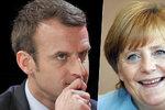 Kandidáta na francouzského prezidenta Macrona čeká schůzka s Merkelovou