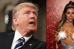 TRUMPoty nestydaté modelky: Na bradavky si nalepila amerického prezidenta