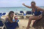 Četařka Babinčáková má jarní prázdniny: Dceru vyvezla na Punta Cana a ukázala vnady!