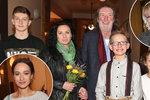 Polívka vyvedl celou rodinu: Nechyběla exmanželka Chantal ani nastávající snacha Krézlová