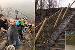 Vedení Prahy 7 vniklo na území Prahy 8 a postavilo schody. Starosta osmičky zuří