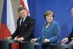 Sobotka a Merkelová řešili ožehavé mýto: Čechy nediskriminujeme, tvrdí kancléřka
