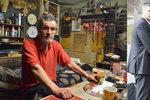 Otec milence Bílé žije jako bezdomovec z odpadků a říká: Radek lže!