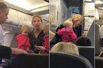Další skandál v letadle! Maminku s dítětem v náručí uhodil a vyvedl stevard