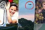 Uniklo ze svatebního večírku Pippy Middleton: Přelétající Spitfire a Federer na ping pongu