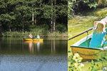 Jiří Kajínek si užívá volné přírody: S Magdou se plavil na lodičce