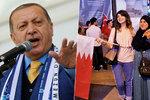 """Je to proti islámu."" Blokádu bohatého Kataru přirovnal Erdogan k trestu smrti"