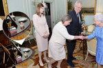 Zeman s Ivanou a Kate u královny: Co odhalily fotografie? Popelníček nechyběl