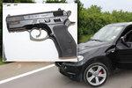 Střelba mezi řidiči v Praze: Muž v BMW hodil audi myšku, po hádce vytáhl zbraň