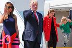 Trumpovi i s Ivankou, kanadský hezoun se synkem: Mocní vyvezli rodiny na G20