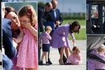 Královské zlobení: Princeznička Charlotte se vztekala na letišti, George uchvátil vrtulník