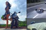 Ohořelý vrak a mrtvé sexy tělo opodál: Motorkářka Olga (†40) prý jezdila jako Valentino Rossi