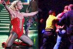 Vyděšená Britney Spears: Fanoušek skočil na pódium a kopal do ochranky