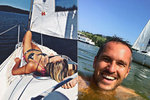 Moderátorka Novy Hejdová se slunila na plachetnici, její muž se kvůli fotce málem utopil!