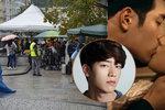 Stočlenný štáb »obsadil« lázně: Sexidol z Koreje natáčí ve Varech! Jeho polibek viděl milion lidí
