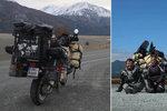 Fanda a Kačka se vydali kolem světa na motorce: Na cestě jsou už 500 dní a najeli 74 tisíc km