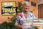Jitka Feniková (64) ze Žamberka vyhrála v Trháku 10 tisíc: Rodina se o výhře dozví až z Blesku!