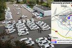 Může to trvat hodinu, ale i osm! Taxikářská blokáda: Pražané jako rukojmí!