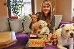 Peníze i pro opuštěné psy! Kateřina Cibulková (37) vyhrála 10 tisíc v Trháku