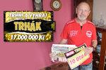 Blesk přinesl Antonínu Bardoňovi (69) z Ostravy první výhru v životě: 10 000 Kč na Vánoce pro vnoučata!