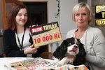 Šťastná vítězka 10 000 ve hře Blesku Trhák Anna Bendová (67) z Prahy: Vyhrála jsem díky psu Timovi!