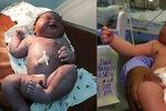 Narodil se megacvalík: Neuvěříte, kolik miminko vážilo po porodu! Chudák máma...