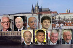 Prezidentský tahák: Zemanovi soupeři o referendu, euru i prvních dámách