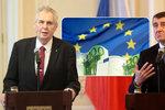 """Spory o konec koruny a """"eurohujery"""": Zeman a Babiš euro nechtějí, kdo je pro?"""