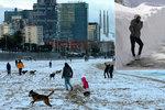 Pláže v Barceloně zasypal sníh. Bílo pokrylo i Kanárské ostrovy