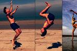 Vysněná dovolená Romana Vojtka: Salto na pláži a roznožka jeho milenky v plavkách