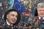 Ukrajina: Tisíce lidí kvůli deportaci Saakašviliho vyzývaly k odchodu Porošenka
