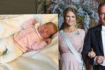 První fotka švédské princezničky: Otec byl u porodu, král zrušil dovolenou