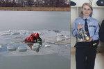 Boj o holý život v mrazivé vodě: Žena popsala hrůzu, kterou prožívala, když se s ní prolomil led Brněnské přehrady