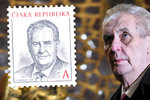 Zeman je dražší o pět korun. Pošta připravila novou známku s prezidentem