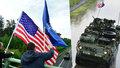 Konvoj dorazil do Prahy: Americké vojáky přivítal ministr obrany, americký velvyslanec i lidé s vlajkami